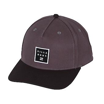 Billabong Men's Snapback Cap ~ Stacked charcoal