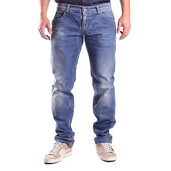 Bikkembergs Ezbc101013 Men's Blue Cotton Jeans