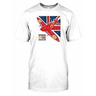 Supermarine Spitfire - Royal Air Force-WELTKRIEG - Union Jack-Herren-T-Shirt