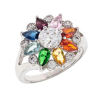 Bertha Juliet Collection Women's 18k WG Plated Fashion Ring Size 7