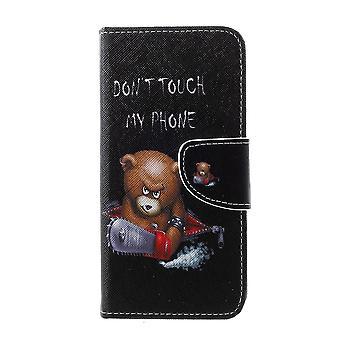 Samsung Galaxy S10e Brieftasche Fall-Braun Bär und Warnhinweise