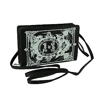 Black and White Glow in the Dark Book of Spells Crossbody Purse