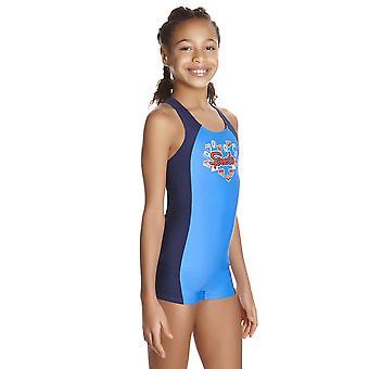 Speedo Fizz Express Panel Legsuit Swimwear For Girls