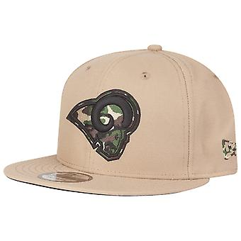 New Era Snapback Cap - Los Angeles Rams beige / wood camo