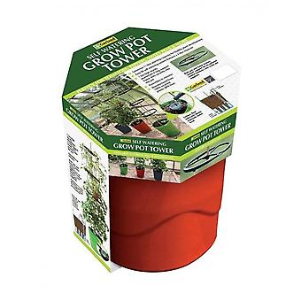 Self Watering Grow Pot Tower Red