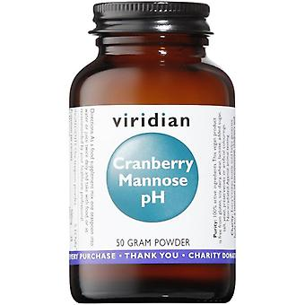 Viridian Cranberry Mannose pH Powder 50g (402)
