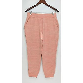 Anybody Women's Pants Loungewear Cozy Knit French Terry Pink A290139
