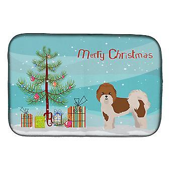 Carolines Schätze CK3853DDM Mal-Shi Weihnachtsbaum Schale Trocknen Matte