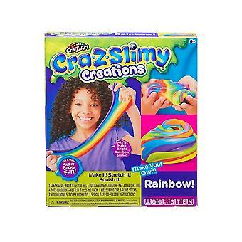 Cra-Z-Slimy Kreationen Regenbogen Schleim Spaß Kit