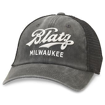 Blatz Beer Black Adjustable Mesh Snapback Hat