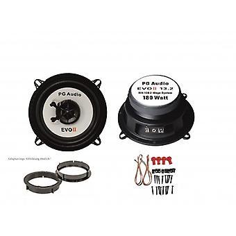 13cm coax 2-weg coax, Mazda 121, spreker deur voorkant incl. adapter ringen