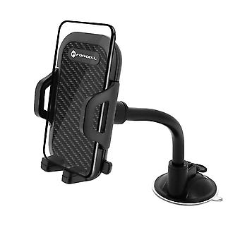 Smartphone Car Holder 47 à 95mm 360 'Rotable Suction cup mount- Forcell, Black