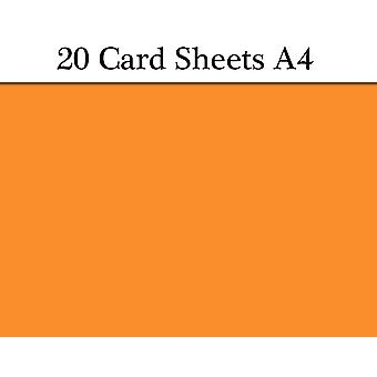 20 Orange A4 Card Sheets for Crafts   Coloured Card for Crafts
