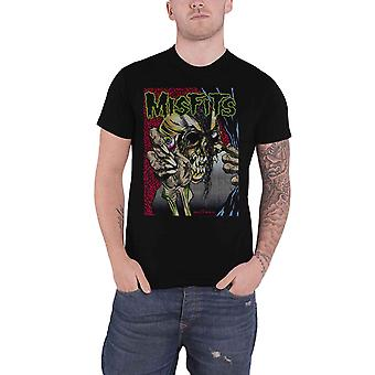 Misfits T Shirt Pushead Band Logo new Official Mens Black