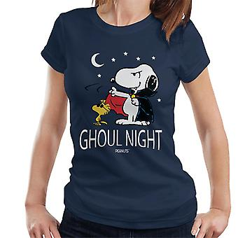 Peanuts Ghoul Night Snoopy & Woodstock Women's T-Shirt