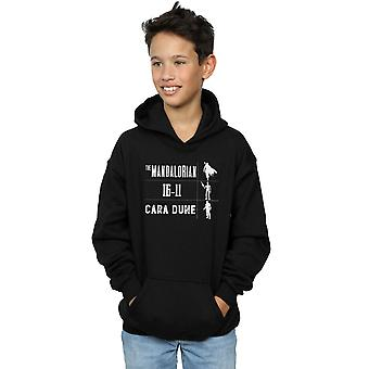 Star Wars Boys The Mandalorian Warrior Silhouettes Hoodie