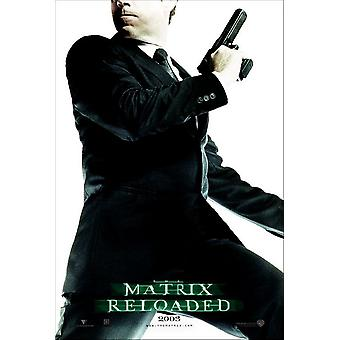 The Matrix Reloaded (Single Sided Advance Reprint Agent Smith) (2003) Reprint Cinema Poster