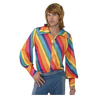Pánske Rainbow 1970 košele Fancy šaty príslušenstvo Pride