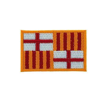 Patch Ecusson Brode vlag Barcelona Spanje Thermo collant rugzak