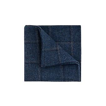 Dobell Mens Blue Tweed Chusteczka Szyba