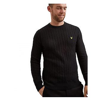 Lyle & Scott Cable Knit Jumper True Black