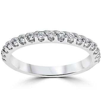 1 / 2ct Prong Diamond Wedding Ring 14K białe złoto