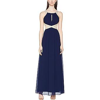 Little Mistress Empire Maxi Dress Navy 19