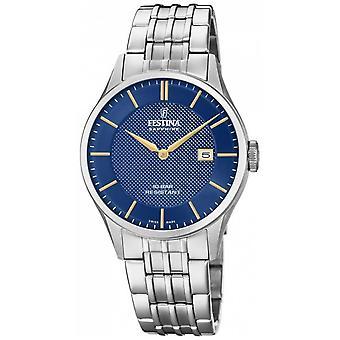 Festina | Men's Swiss Made | Stainless Steel Bracelet | Blue Dial | F20005/3 Watch