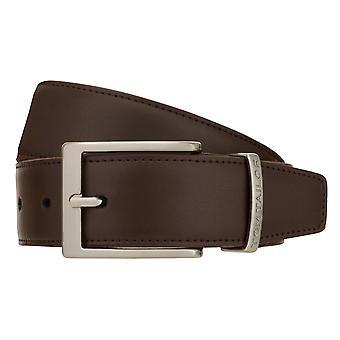TOM TAILOR Cinturón de Cuero Cinturón Hombres Cinturón Jeans Cinturón Marrón 8384