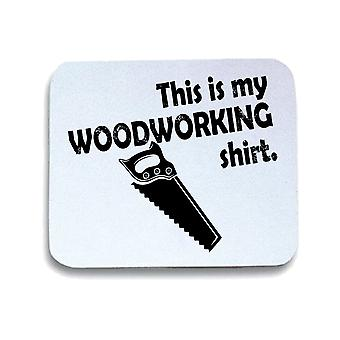 Tappetino mouse pad bianco gen0495 woodworking shirt