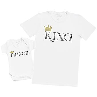 King & Prince - Mens T Camicia & Baby Body