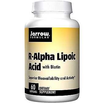 R-Alpha Lipoic Acid med biotin (60 kapsler)-Jarrow formler