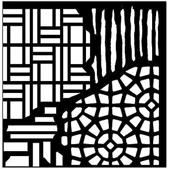 Woodware 6in x 6in stencil azulejos rotos
