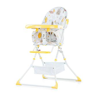Chipolino high chair folding Maggy table extendable, storage basket, belt