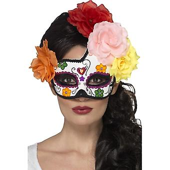 Smiffy's Day Of The Dead Crescent Eyemask