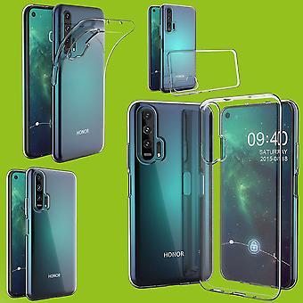 Para a Huawei Honor 20 Pro Silicone Case TPU Protective Transparent Case Cover Case Acessórios Novo