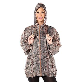 Ladies Lightweight PU Coated ProClimate Showerproof Snake Print Kagool Kagoule