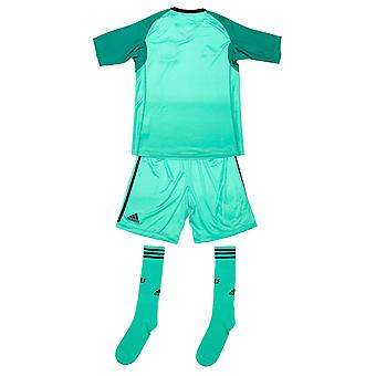 Junior Boys adidas Spain Goalkeeper Kit In Green- T-Shirt:- Half Sleeve-