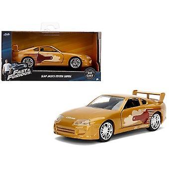 Slap Jack's Toyota Supra Gold Fast & Furious Movie 1/32 Diecast Model Car by Jada