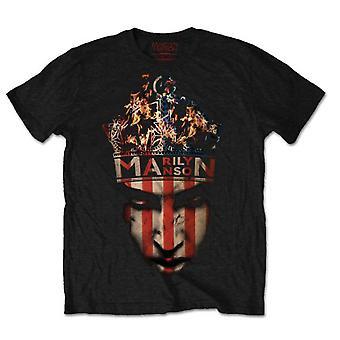 Marilyn Manson Fire Heaven ondersteboven Rock officiële T-shirt