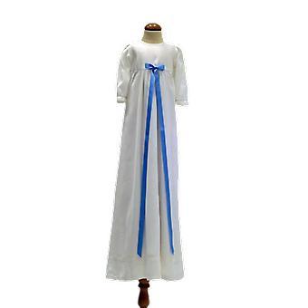 Dopklänning Med Smal Blå Rosett, Grace Of Sweden Pr.la