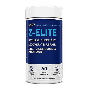 Rsp z-elite: natural sleep support, muscle recovery & sleep aid, melatonin, zinc & magnesium, for men & women, 180 capsules (2-month supply)