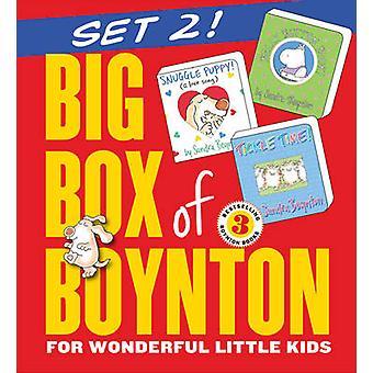 Iso laatikko Boynton Set 2 Snuggle Puppy Belly Button Book Tickle Time by Workman Publishing & Sandra Boynton