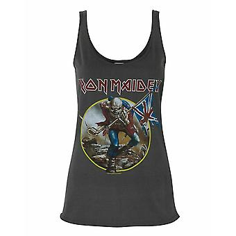 Amplified Iron Maiden Eddie Trooper Logo Women's Charcoal Vest