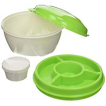 Cool Gear Stay Fit Deluxe Salad Kit, Verde