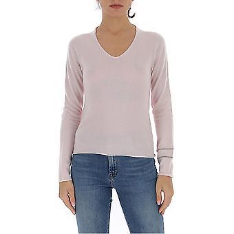 Fabiana Filippi Mad260b901n9002117 Women's Pink Cotton Sweater