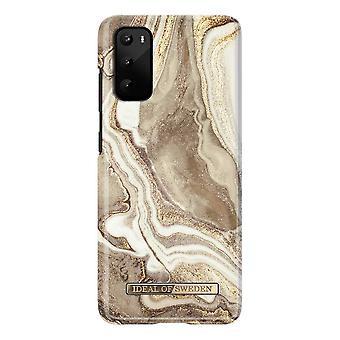 iDeal Of Sweden Samsung Galaxy S20 - Golden Sand Marble