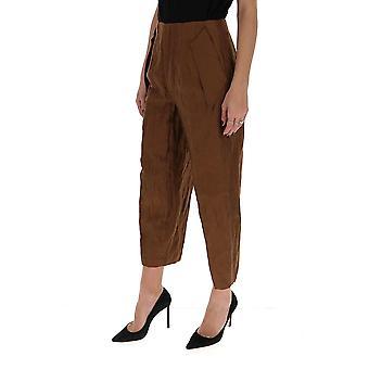 Gentry Portofino D315mag0004 Women's Brown Cotton Pants