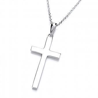 David Deyong Sterling Silver Classic Cross Pendant & Chain