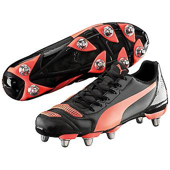 Puma evoPower H8 Mens Rugby Boot Shoe Noir/Rouge